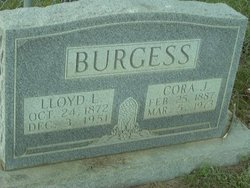 Cora J <I>Barefield</I> Burgess