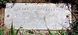 """Martha Ann """"Mary"""" Bailey"""