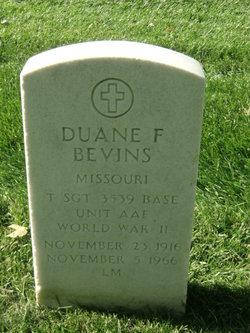 Duane F Bevins