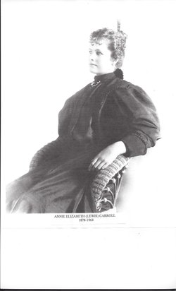 Annie Elizabeth <I>Lewis</I> Carroll Weist