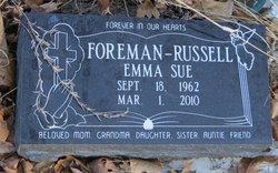 Emma Sue <I>Foreman</I> Russell