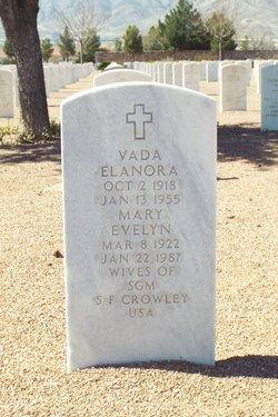 Vada Elanora <I>Gleason</I> Crowley
