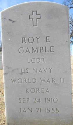 Roy E Gamble