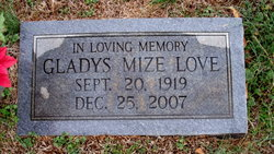 Gladys <I>Mize</I> Love