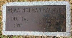 Alma <I>Holman</I> Bagwell