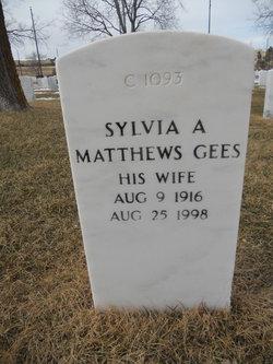 Sylvia A Matthews Gees