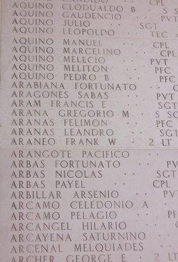2Lt Frank W Araneo