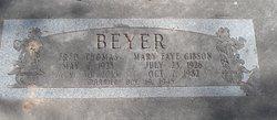 Mary Faye <I>Gibson</I> Beyer