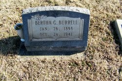 Bertha G <I>Grider</I> Burrell