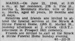Bertha L. <I>Steinmetz</I> Marks