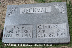 Ida May <I>Farrow Cole</I> Beckman