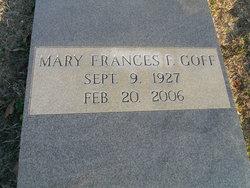 Mary Frances <I>Fortson</I> Goff