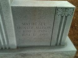 Mattie Sue <I>Hunter</I> Allison