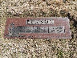 Lillie Ethel <I>Lewis</I> Benson