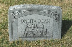 Oneita <I>Dean</I> Bradley