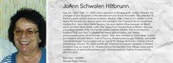 JoAnn <I>Schwalen</I> Hiltbrunn