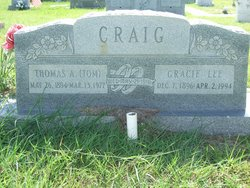 Gracie Lee <I>Allison</I> Craig