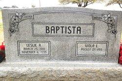 Leslie Anthony Baptista, Sr