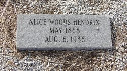 Alice <I>Woods</I> Hendrix
