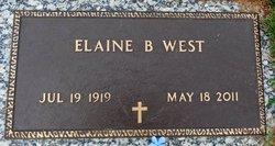 Elaine <I>Blalock</I> West