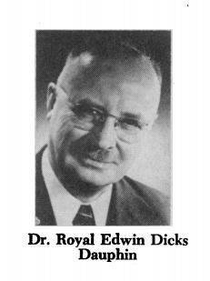Dr Royal Edwin Dicks