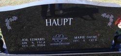 "Joseph E ""Joe"" Haupt"
