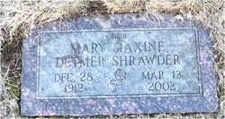 "Mary Maxine ""Mickey"" <I>Detmer</I> Shrawder"