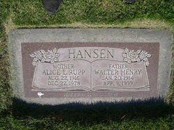 Alice Lavon <I>Rupp</I> Hansen