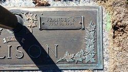 Frances Belle <I>Smith</I> Allison