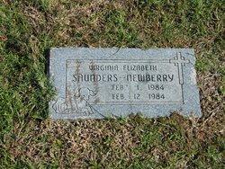 Virginia Elizabeth <I>Saunders</I> Newberry