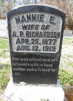 "Nancy Eleanor ""Nannie"" <I>Coggin</I> Richardson"