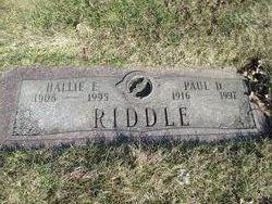 Hallie E <I>McDonald</I> Riddle
