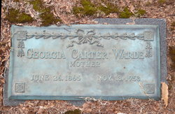 Georgia <I>Carter</I> Warde