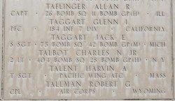 Capt Allan R Taflinger