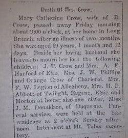 Mary Catherine <I>Donaldson</I> Crow