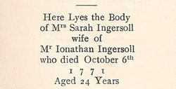 Sarah <I>Lord</I> Ingersoll