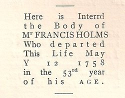 Dr Francis Holmes