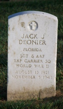 Sgt Jack J Deonier