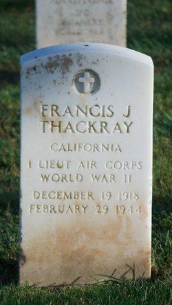 1LT Francis J Thackray