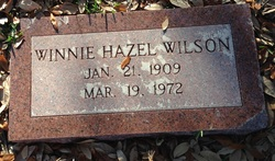 Winnie Hazel Butler Wilson (1909-1972) - Find A Grave Memorial