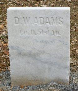 Pvt Daniel W Adams