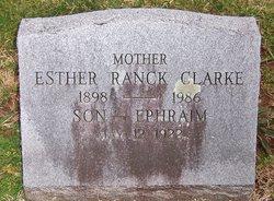 Esther <I>Ranck</I> Clarke
