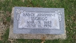 Nancy Josephine <I>McDonald</I> Isgrigg