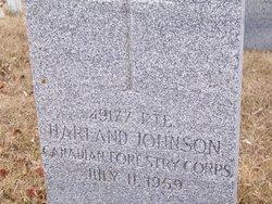 Pvt Harland Johnson