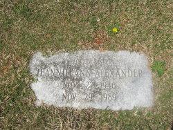 Jeanie Ann <I>Martin</I> Alexander