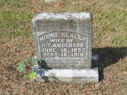 Minnie Henley <I>Riddle</I> Anderson