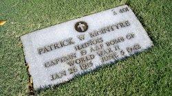 Capt Patrick W McIntyre