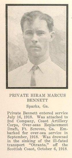 PVT Hiram Marcus Bennett