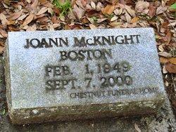 Joann <I>McKnight</I> Boston