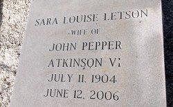 Sara Louise <I>Letson</I> Atkinson